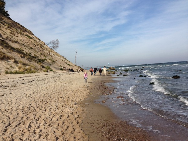 Wandern am Strand von Sellin